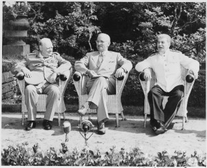L_to_R,_British_Prime_Minister_Winston_Churchill,_President_Harry_S__Truman,_and_Soviet_leader_Josef_Stalin_in_the____-_NARA_-_198958