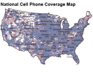 Us Cell Phone Coverage Map - Us cellular coverage map usa